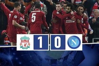 Salah segna, Alisson fa il miracolo: il Liverpool vince, il Napoli esce dalla Champions