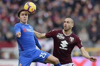 Chiesa beffa il Toro nel finale: 2-0 ai granata, ai quarti sfida a una fra Roma e Entella
