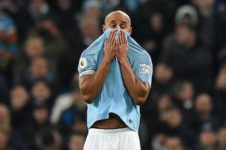"""Manchester City, Guardiola: """"Per Kompany è finita, da 5 anni ha continui problemi fisici"""""""