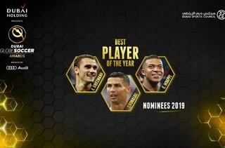 Globe Soccer Awards: sfida a tre tra Cr7, Mbappè e Griezmann. Assente Modric