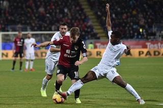 Farias al 91' salva il Cagliari dal ko-beffa: 2-2 contro l'Empoli