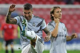 """Real, Ramos non apprezza le parole di Modric: """"Certe cose restano nello spogliatoio"""""""