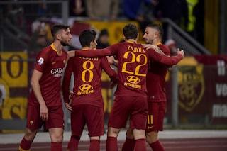 La Roma è la squadra che segna di più in casa: all'Olimpico in gol ogni 34'