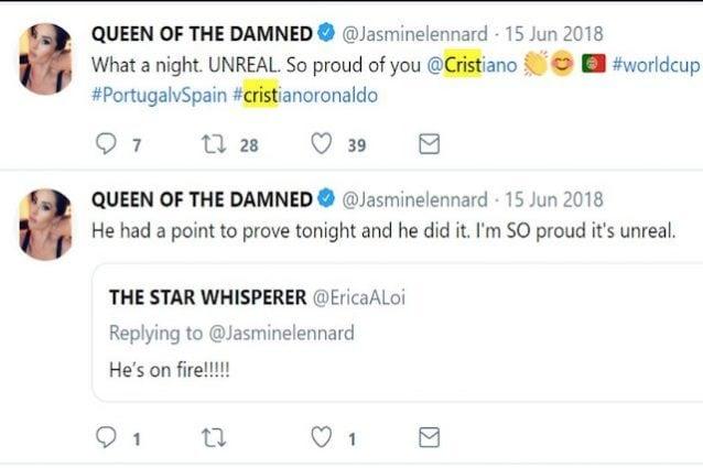 I complimenti del passato della Lennard a Cristiano Ronaldo