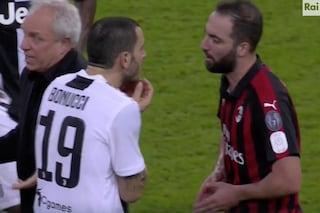 Cosa ha detto Higuain a Bonucci dopo la fine di Juventus-Milan