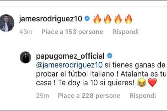 Papu Gomez invita James Rodriguez: