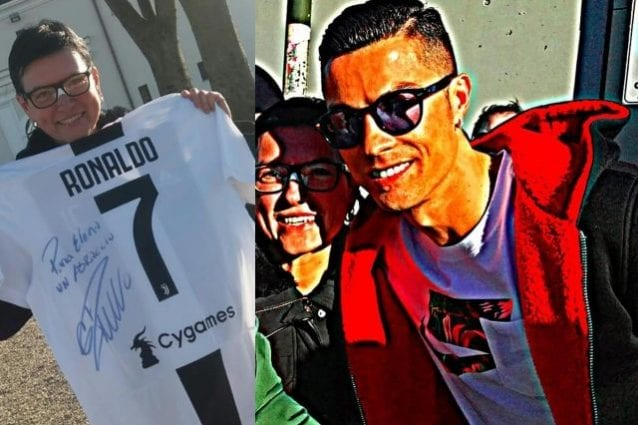 Juventus, pallonata in faccia alla tifosa: Ronaldo le regala maglia con dedica