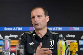 """Juventus, Allegri rassicura su Chiellini: """"Nulla di grave. Out solo 10, 15 giorni"""""""
