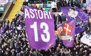 Astori, al minuto 13 di Udinese-Fiorentina il tributo della Dacia Arena