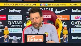 """Roma, Di Francesco allontana Sarri: """"Solo chiacchiere. Zaniolo potrebbe riposare"""""""