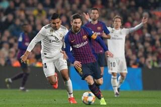 Coppa del Re, Lucas Vazquez e Malcom in gol: è pareggio tra Barcellona e Real Madrid