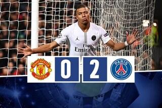 Impresa del Psg in Champions, sbanca Old Trafford senza Neymar e Cavani
