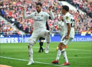 Tris del Real all'Atletico e Ramos si prende gioco di Griezmann