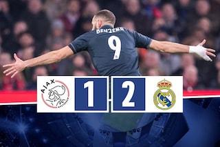 Il Real Madrid soffre, ringrazia il Var e batte l'Ajax: Solari ipoteca la qualificazione