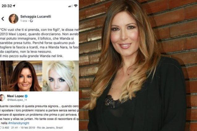 'Bifolco'. 'Presunta signora'. Su Wanda è scontro tra Lucarelli e Maxi Lopez