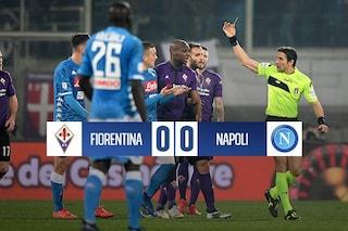 Il Napoli ha lasciato i gol in albergo: sbatte su Lafont, solo pari a Firenze