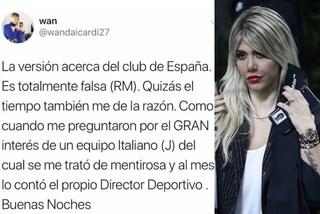 I tweet notturni di Wanda Nara su Mauro Icardi, il Real Madrid e l'Inter