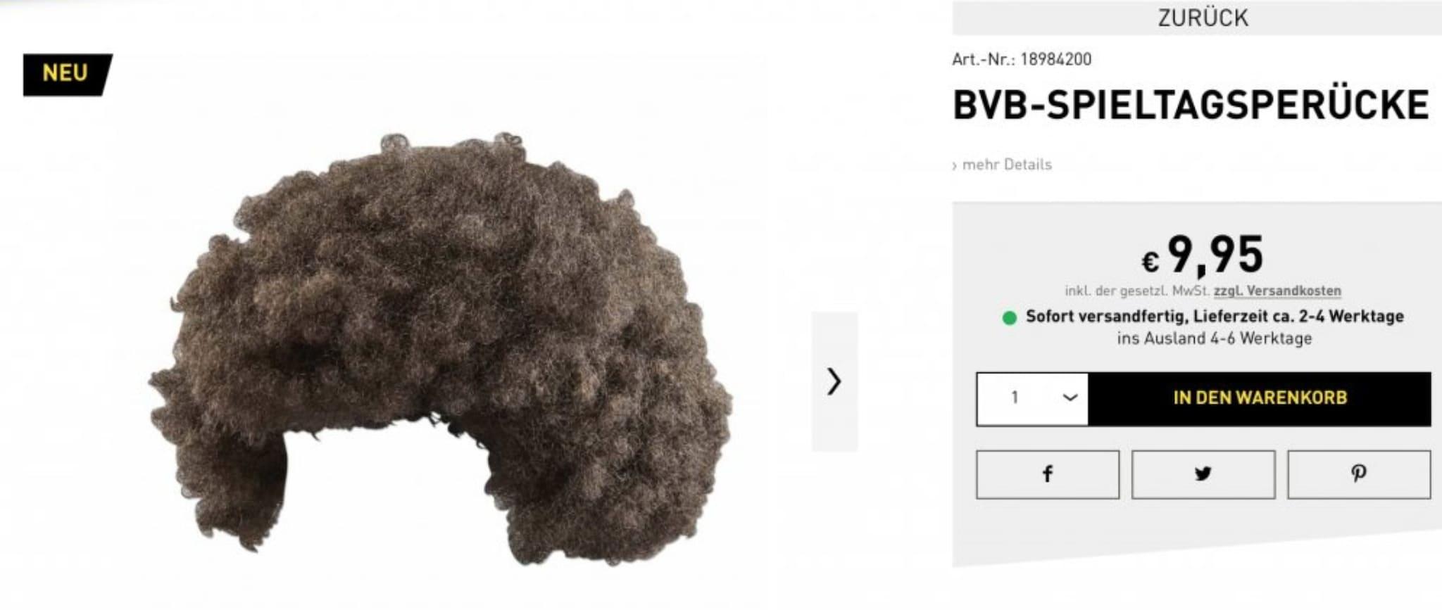 In vendita nello store del Borussia la parrucca di Witsel.