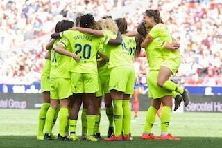Primato mondiale di spettatori per il calcio femminile: in 61 mila per Atletico-Barcellona