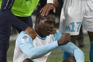 Balotelli, gol dell'ex in Marsiglia-Nizza ed esultanza show con Thauvin