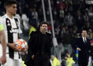 """Diego Simeone: """"La Juventus ci ha fatto male, sono stati superiori in tutto"""""""