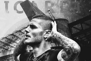 Icardi, esultanza a San Siro con la fascia di capitano: cosa c'è dietro la foto pre-derby?