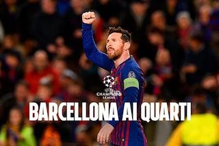 Messi show incanta il 'Camp Nou': Lione battuto 5-1. Barcellona ai quarti di Champions
