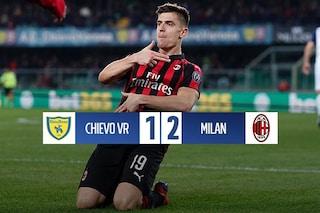 Ci pensa Piatek: il Milan si presenta al derby col terzo posto