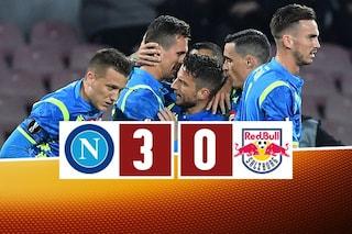Napoli-Salisburgo 3-0: coi gol di Milik e Fabian, Ancelotti vede i quarti di Europa League