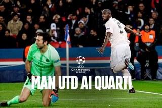 Psg condannato da Var e Buffon. Il Manchester United vince 3-1, va ai quarti di Champions