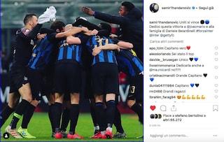 """Inter, Handanovic: """"Dedico questa vittoria a Joao Mario e alla famiglia di Belardinelli"""""""