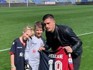 Pisacane incontra Briek, bambino olandese che ha sconfitto la sindrome di Guillain-Barré