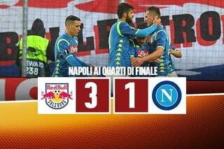 Salisburgo indigesto per il Napoli: Ancelotti perde, ma conquista comunque i quarti