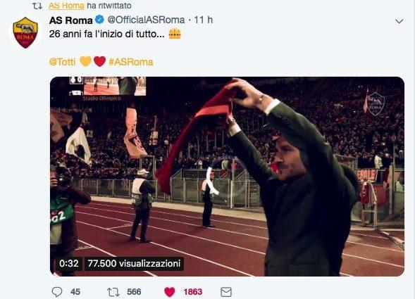 Roma, Totti parla di Salah: