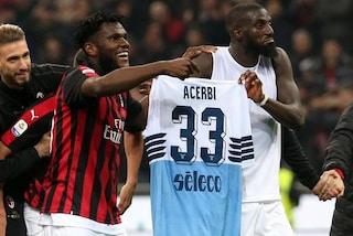 Il Milan castiga la Lazio: perché a fine gara Bakayoko festeggia con la maglia di Acerbi