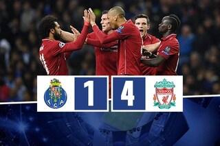 Uragano Liverpool, spazza via il Porto. Reds in semifinale col Barça