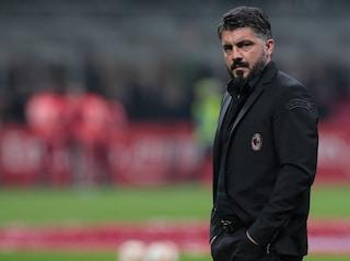 """Milan-Lazio, Gattuso: """"Rivoglio la prestazione di Torino. Dimissioni? Chiacchiere da bar"""""""