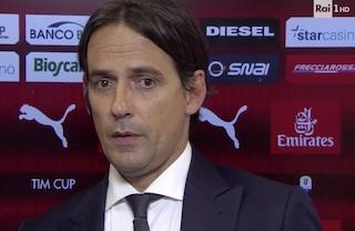 """Inzaghi: """"L'infortunio di Milinkovic-Savic? Doppia distorsione, ma sembra non sia grave"""""""