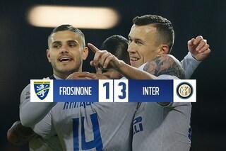 Nainggolan-Perisic-Vecino: l'Inter sbanca Frosinone e tiene il Milan a -5