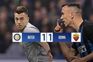 Tra Inter e Roma termina in parità: a Ranieri non riesce il sorpasso al Milan