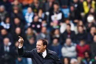 """Allegri: """"Niente rimpianti per la Spal. Emre Can e Matuidi ok con l'Ajax, Chiellini forse"""""""