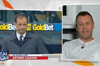 """Cassano attacca Allegri: """"Già la Juve è antipatica, se poi se le va anche a cercare..."""""""