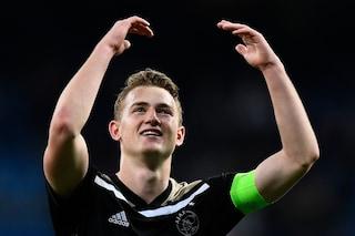Matthijs de Ligt non va in ritiro con l'Ajax, le ultimissime sul colpo della Juventus
