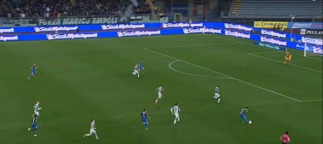 Contro l'Empoli, il Napoli perde compattezza fra difesa e centrocampo e si scopre fra le linee