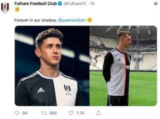 """Il Fulham sfotte la Juventus per la nuova maglia: """"Per sempre nella nostra ombra"""""""