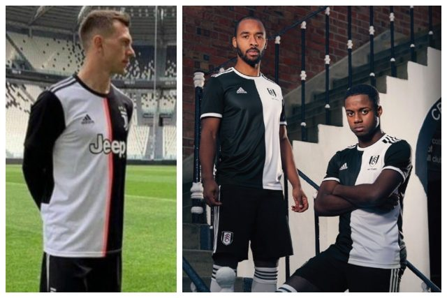 Si somigliano molte le maglie 2019/2020 della Juventus e del Fulham.