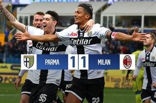 Bruno Alves risponde a Castillejo: il Parma frena la corsa Champions del Milan