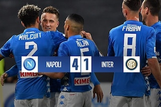 Napoli a valanga, Inter battuta 4-1. In gol Zielinski, Mertens e Fabian Ruiz (doppietta)