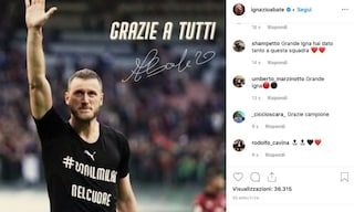 """Milan, il commovente addio di Abate: """"Sono stati dieci anni indimenticabili"""""""