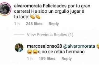 """""""Complimenti per la tua carriera"""": l'epic fail social di Morata nei confronti di Cahill"""
